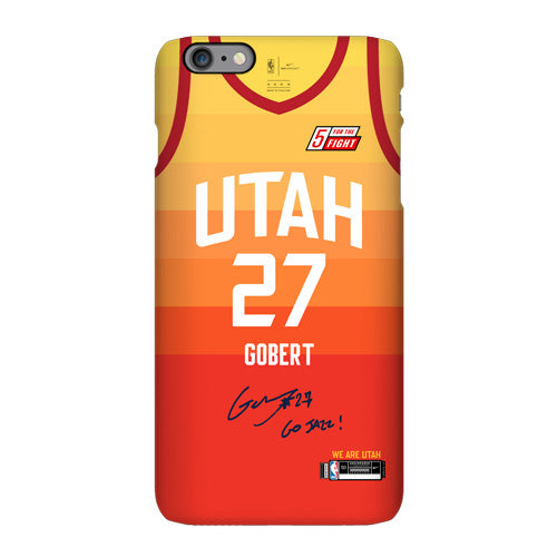 big sale 9a7f7 a762a Utah Jazz Orange City Edition Jersey Phone Case – sportcaseplug