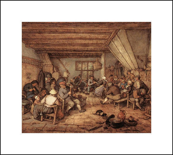 Feasting Peasants In A Tavern