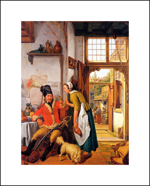 Interior With Soldier And Maid