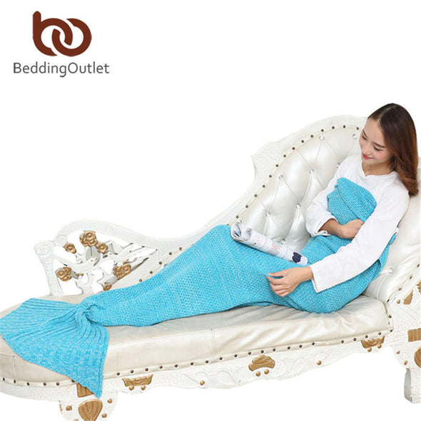 Mermaid Tail Crochet Throw Blanket - Ocean Club Co