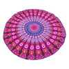 Mandala Lotus Tapestry Round Beach Towel - Ocean Club Co