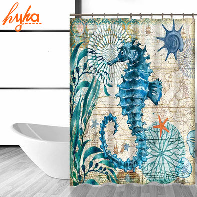Marine Sea Life Shower Curtain - Ocean Club Co