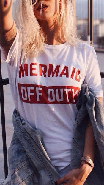 Mermaid Off Duty T Shirt - Ocean Club Co