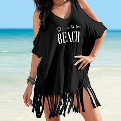 Take Me to the Beach Tassel Top - Ocean Club Co
