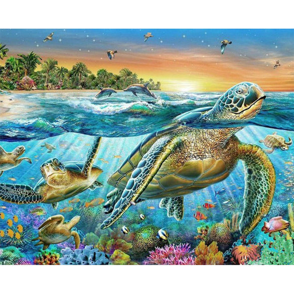 DIY Diamond painting Sea Turtle #D Embroidery Mosaic - Ocean Club Co