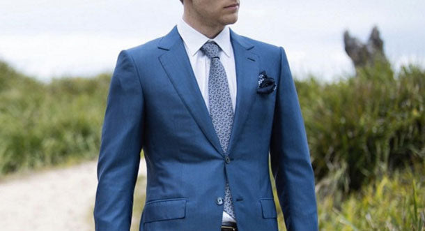 H's wardrobe staple: The blue suit