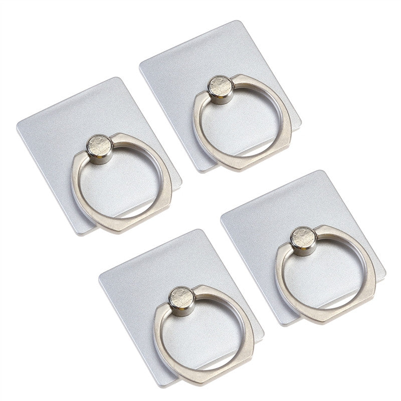 4PCS Cellphone Ring Holder Universal Smartphone Finger Grip Loop Stand for iphone ipad Samsung HTC Nokia Smartphones Tablet (Silver)