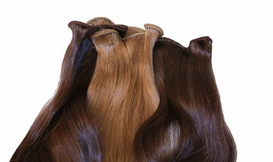 Custom Colored 18 Inch Hand-Tied Wefts and Closure Package 2A/4A