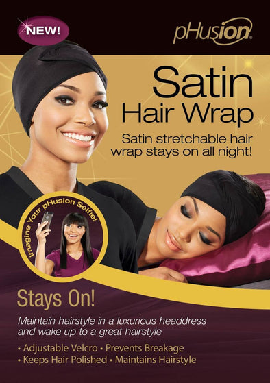 PHUSION SATIN HAIR WRAP