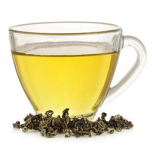 "This pale golden infusion has a compelling mixture of smoky, vegetal, and citrus aromas. Its earthy taste is well rounded with a slight note of toasted pecans and a buttery finish. The young leaves of this tea are harvested in the Spring from tender buds grown on scenic mountains shrouded in thick mist, praised for centuries as ""green gold"" or yunwu. Now available in pyramid tea sachets so you can have convenience with your premium Chinese green tea - NY Spice Shop"