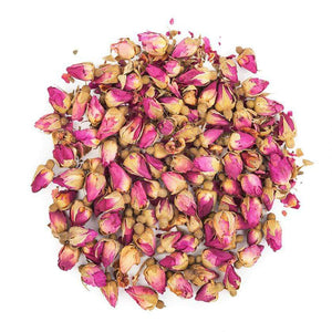 A full rosy taste and aroma match the visual beauty of these Moroccan rosebuds & petals! This soothing herbal tea consists purely of rose buds and petals. Brewing offers a flowery aroma, a light sweet taste, and a golden infusion. Roses are thought to improve digestion, blood circulation, nourish the skin, and uplift moods. This caffeine-free tea is an excellent refresher, with calming qualities to elevate your day - NY Spice Shop