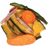 Assorted vegetable chips. Wholesome goodness and natural flavor. Thinly sliced and super crunchy. Includes: sweet potato, squash, carrots, green beans- NY_Spice_Shop