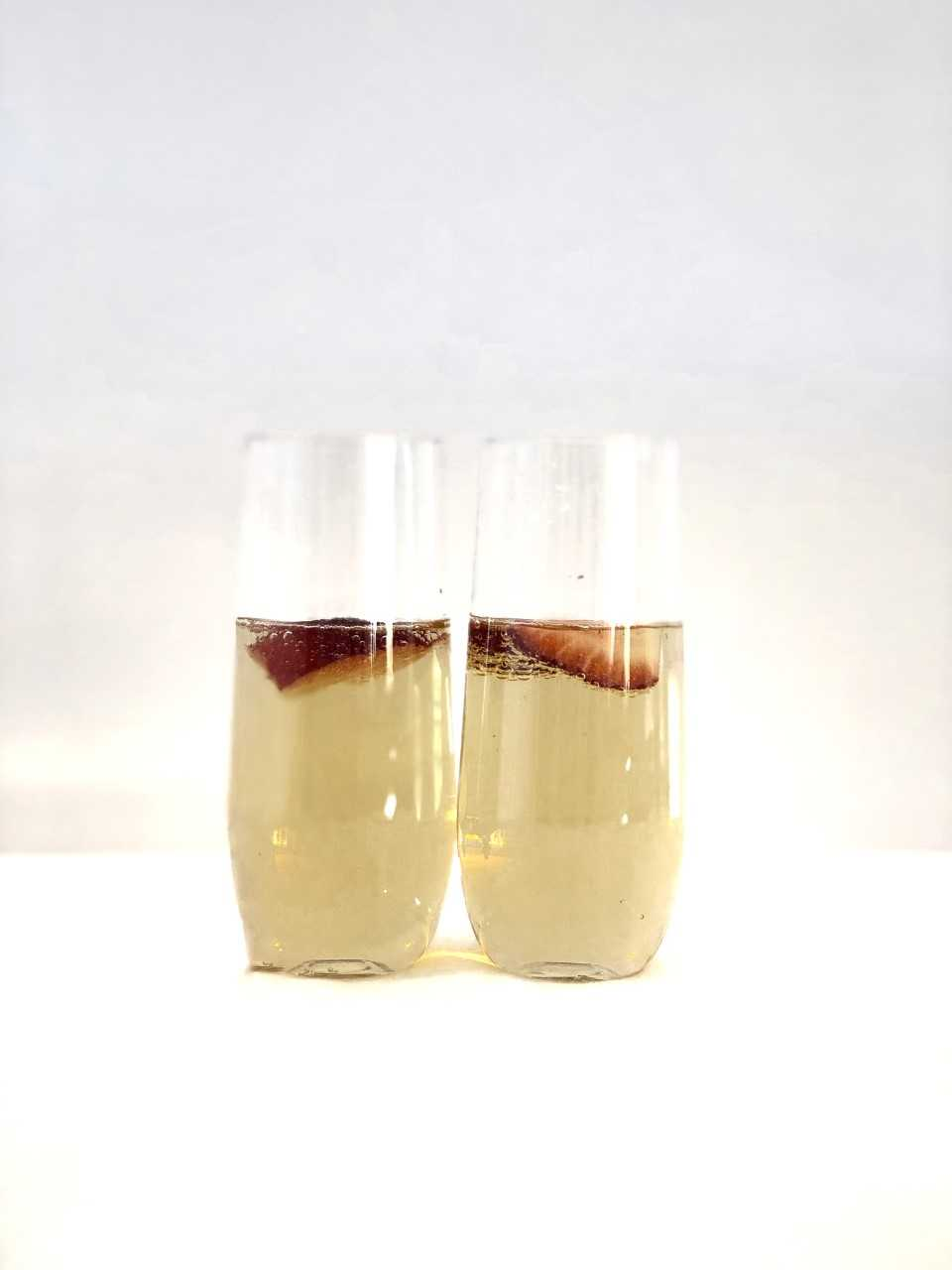 Stemless Champagne Flutes - set of 8