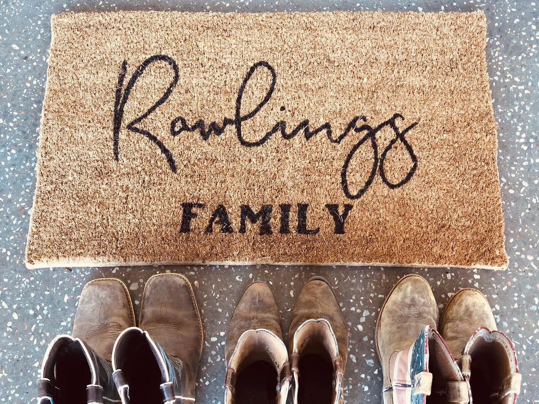 Personalised door mats
