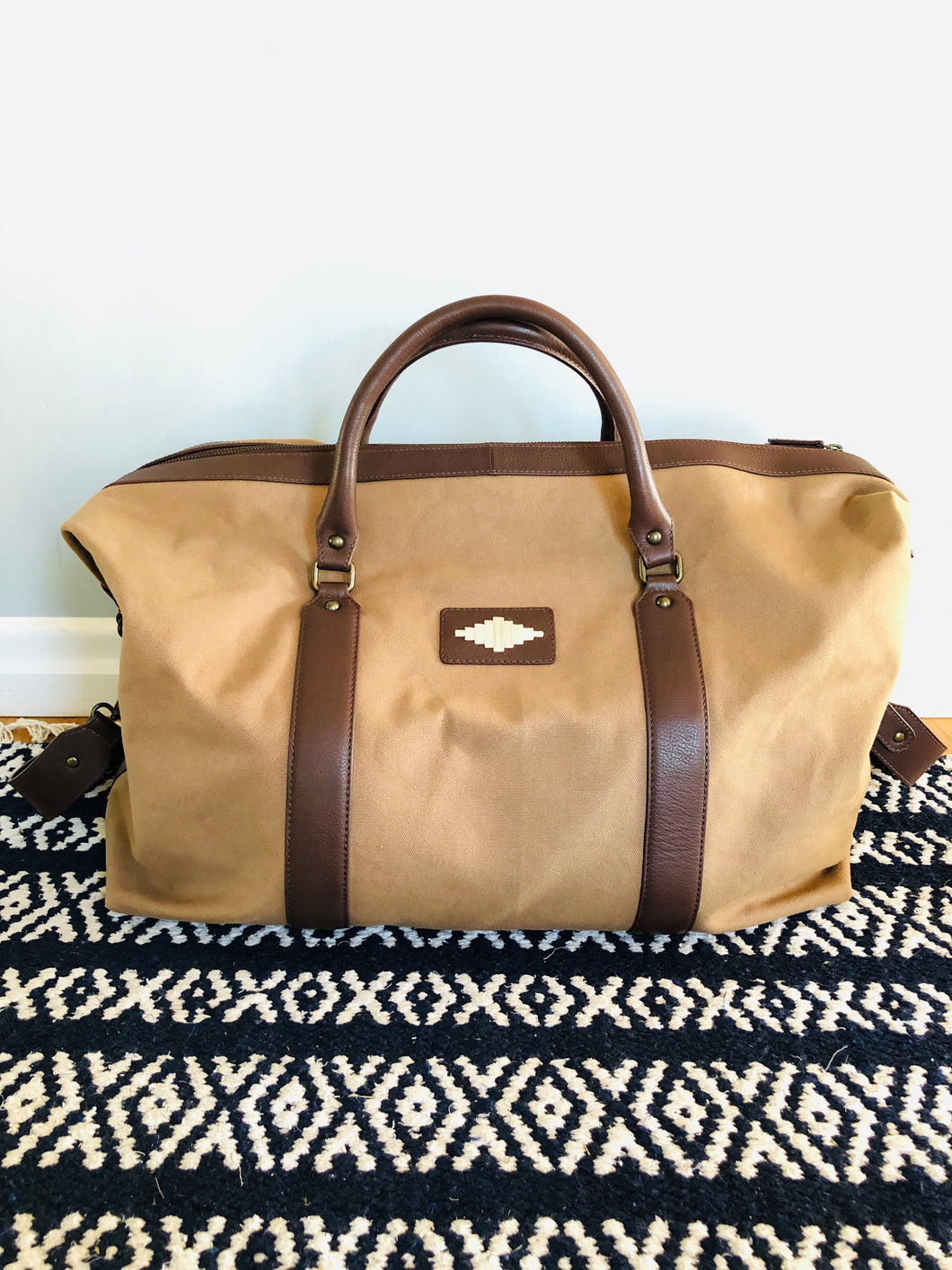 Large Canvas Leather bag