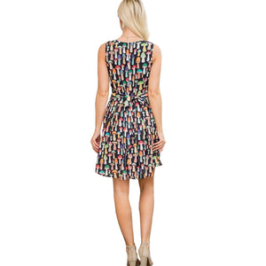 All Over Colorful Print Dress
