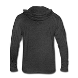 Unisex Tri-Blend Hoodie Shirt - heather black