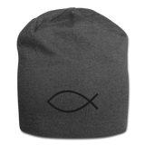 Jersey Beanie - charcoal gray