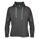 Unisex Lightweight Terry Hoodie - charcoal gray