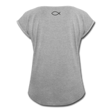 Women's Roll Cuff T-Shirt - heather gray