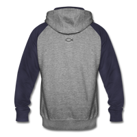 Colorblock Hoodie - heather gray/navy