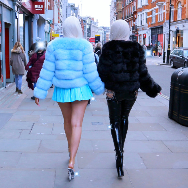 Icy Cold Biatch Faux Fur Jacket