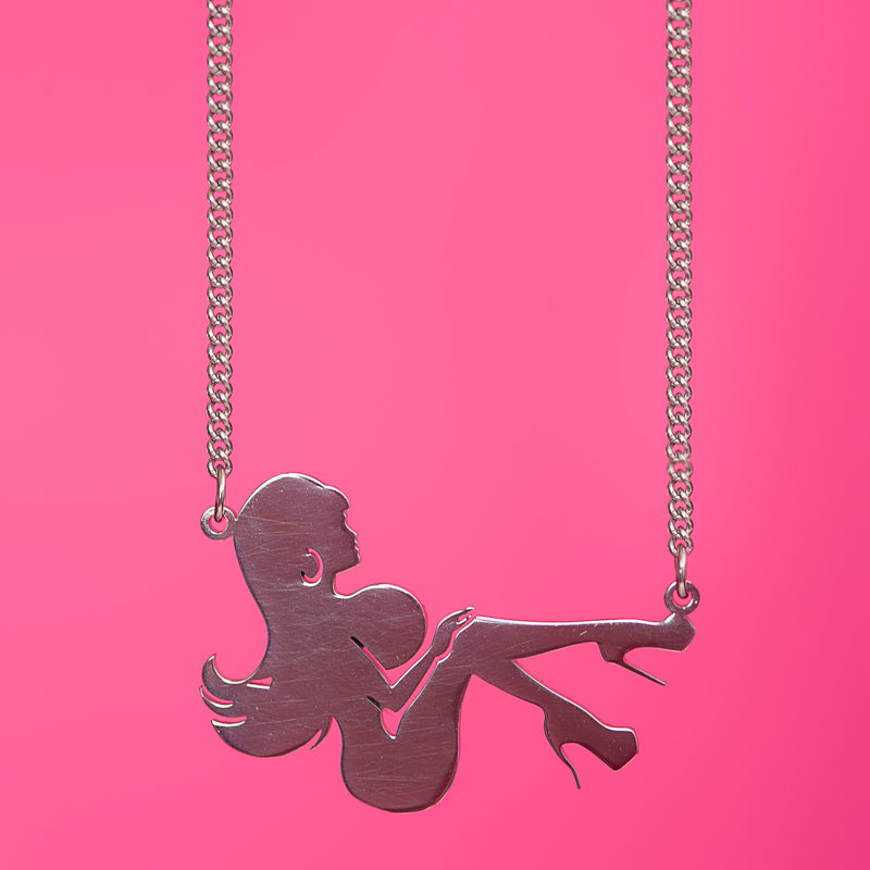 Bimbo Girl Pendant Necklace