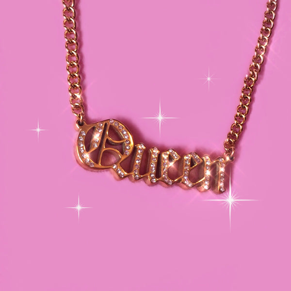 Cali Queen Rhinestone Pendant Necklace