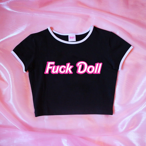 Limited Edition Black F*ck Doll Crop Top