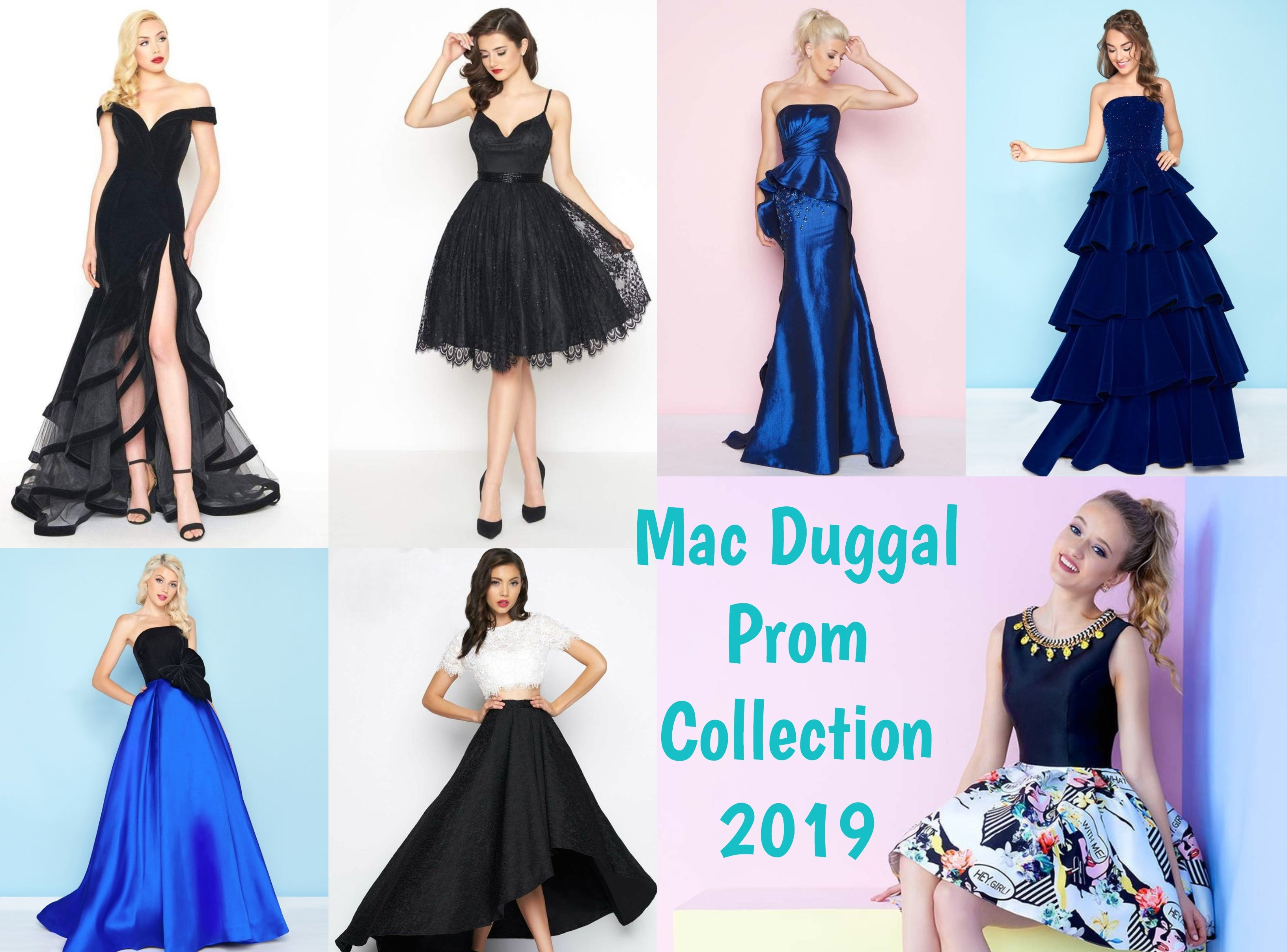 5295ccbafd44 Dazzle Wherever You Go in Mac Duggal Dresses for Prom & Special Occasions.  Black floral plus size ...