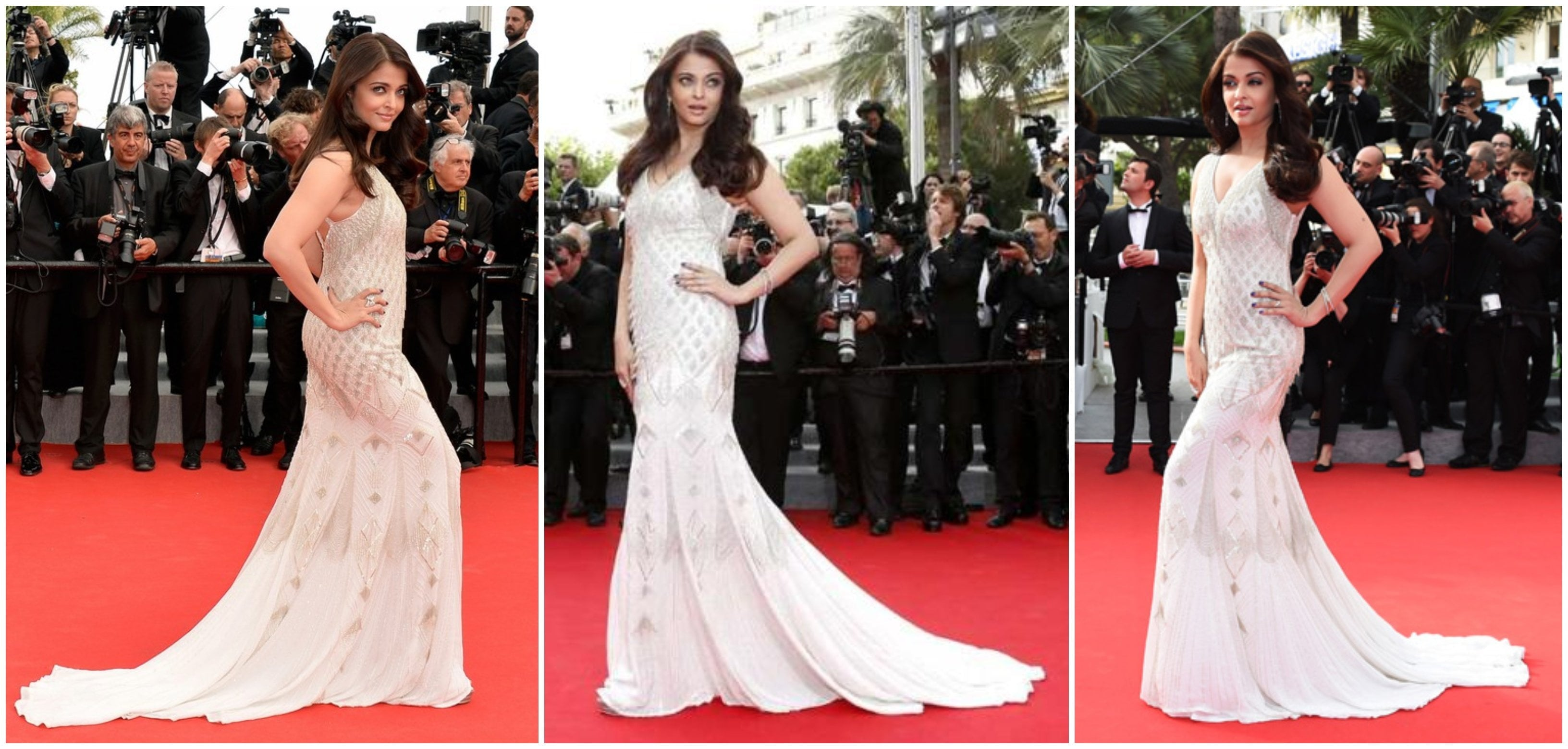 Celeb Look Book - Aishwarya's Beaded Ivory Gown for Beautiful Bridesmaids!