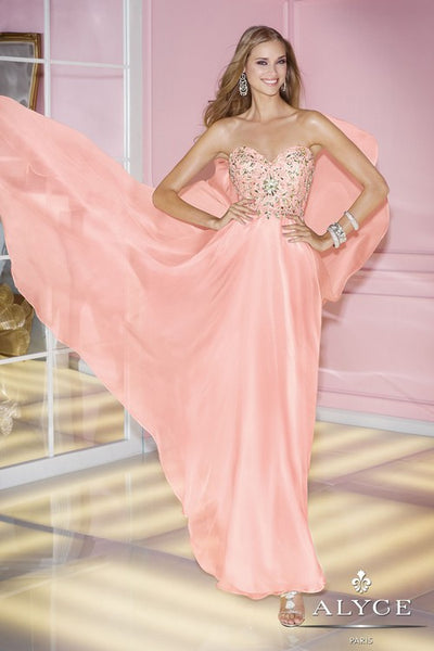 alyce paris prom dress in blush