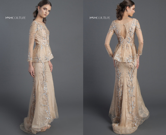 MNM COUTURE - EMBELLISHED LACE MERMAID GOWN M0018