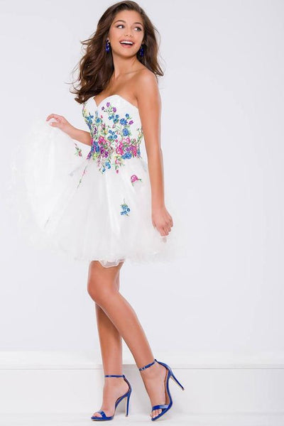 Jovani jvn42612 Strapless Floral Cocktail Dress