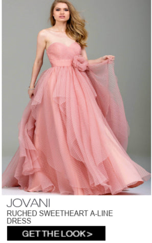 Jovani Ruched Sweetheart A-line Dress