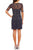 Adrianna Papell - Jewel Neckline Embellished Short Dress 41922610 Special Occasion Dress