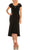 Aidan Mattox - MD1E203805 Beaded Scoop Neck Trumpet High Low Dress Special Occasion Dress 00 / Black