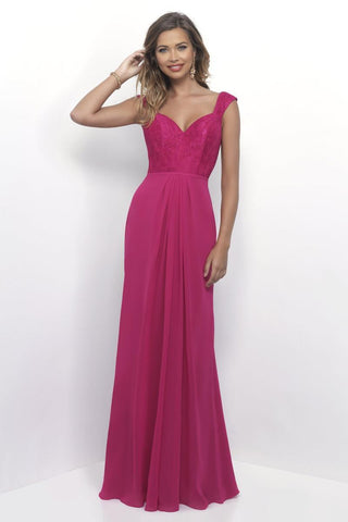 Alexia Designs - 4258 Lace Sweetheart Chiffon A-line Dress Special Occasion Dress 0 / Hot Pink