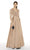 Alyce Paris - 27387 Lace V-Neck Satin A-Line Dress Evening Dresses 2 / Rosegold