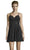 Alyce Paris - 4150 Crystal Ornate Chiffon Cocktail Dress Cocktail Dresses 000 / Black