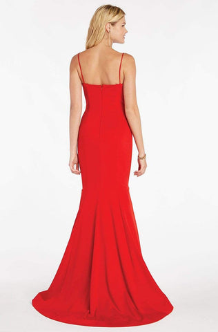 Alyce Paris - 60293 Classy Sleeveless Jersey Mermaid Gown Special Occasion Dress 0 / Red