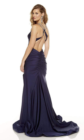 Alyce Paris - 60769 Plunging Neck Fitted Sheath Dress Prom Dresses