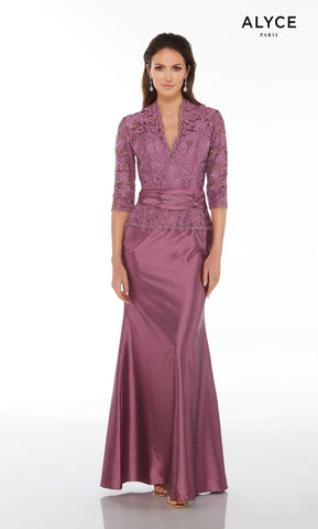 Alyce Paris - Mother of the Bride - 29143 Dress in Aubergine Mother of the Bride Dresses 000 / Aubergine