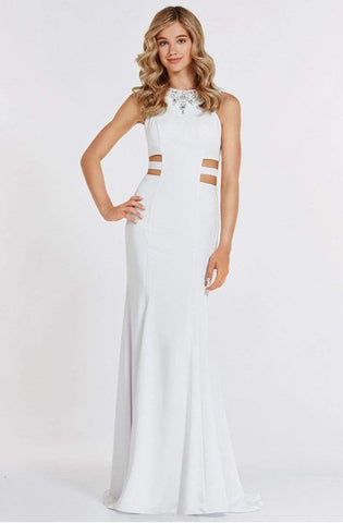 Alyce Paris - Prom Collection - Long Trumpet Gown with Side Cut Outs 8006
