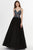 Angela & Alison - 91096 Multicolored Embellished V-neck Ballgown Dress Ball Gowns 0 / Black/Multi