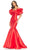 Ashley Lauren - 11057 Puff Ruffle Off Shoulder Mikado Mermaid Gown Special Occasion Dress In Red