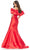 Ashley Lauren - 11057 Puff Ruffle Off Shoulder Mikado Mermaid Gown Evening Dresses