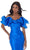 Ashley Lauren - 11057 Puff Ruffle Off Shoulder Mikado Mermaid Gown Special Occasion Dress In Blue