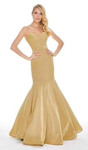 Ashley Lauren - 1487 Metallic Sweetheart Bodice Trumpet Gown