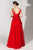 Beside Couture by Gemy - BC 1459 Applique Deep V-neck A-line Gown Special Occasion Dress